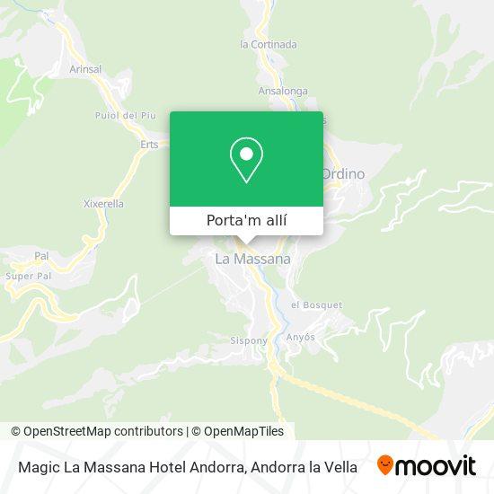 mapa Magic La Massana Hotel Andorra