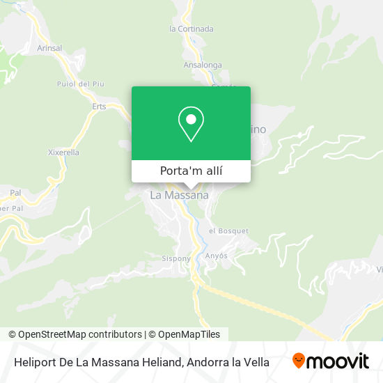 mapa Heliport De La Massana Heliand