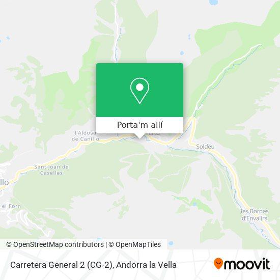mapa Carretera General 2 (CG-2)