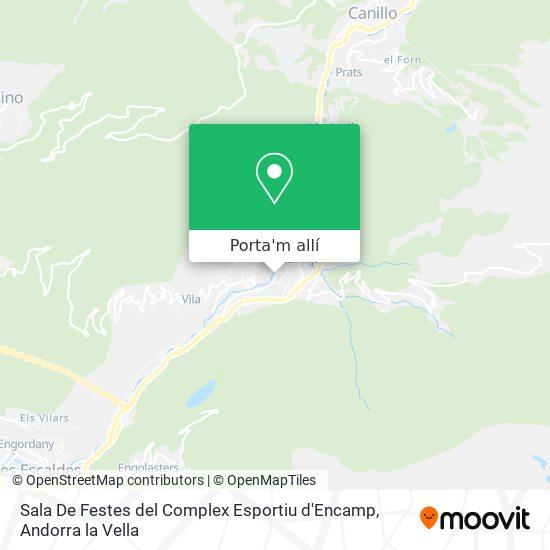 mapa Sala De Festes del Complex Esportiu d'Encamp