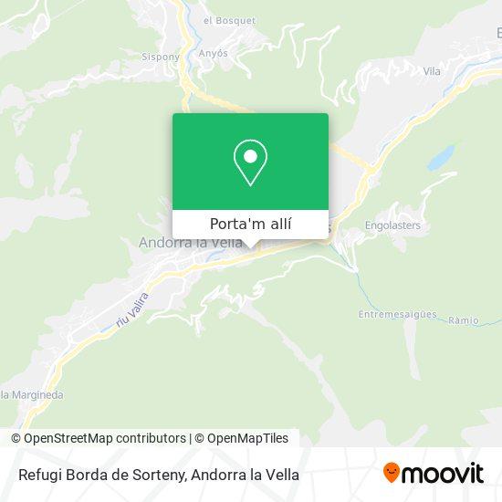 mapa Refugi Borda de Sorteny