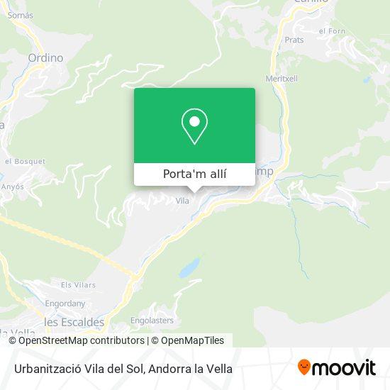 mapa Urbanització Vila del Sol
