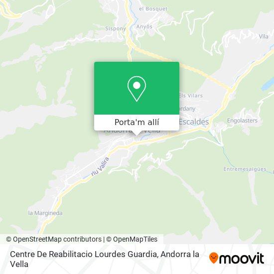 mapa Centre De Reabilitacio Lourdes Guardia