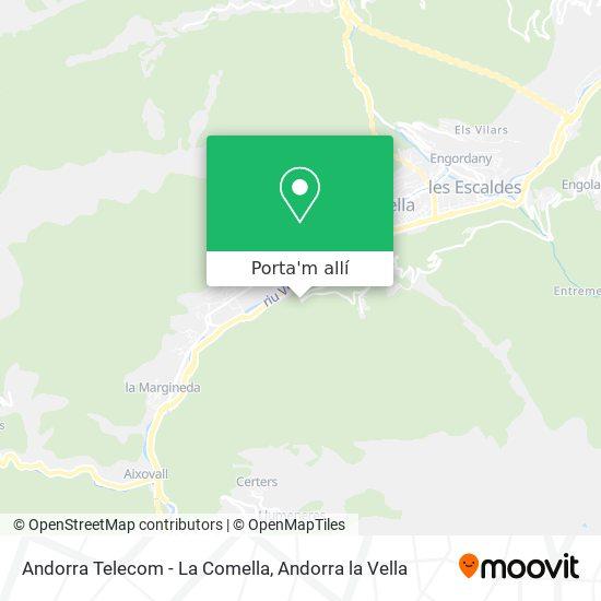 mapa Andorra Telecom - La Comella