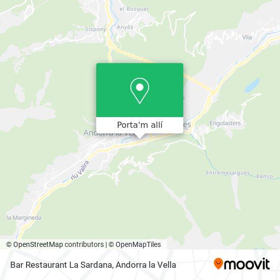 mapa Bar Restaurant La Sardana