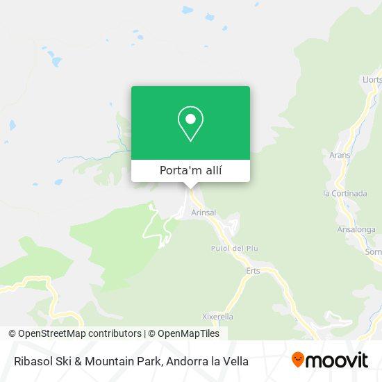 mapa Ribasol Ski & Mountain Park