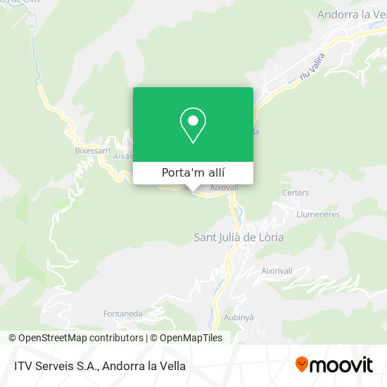mapa ITV Serveis S.A.