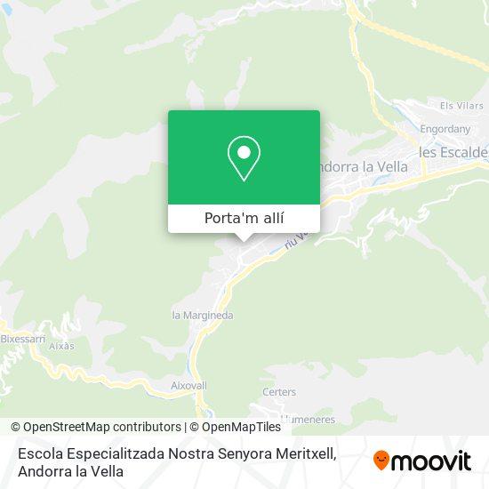 mapa Escola Especialitzada Nostra Senyora Meritxell