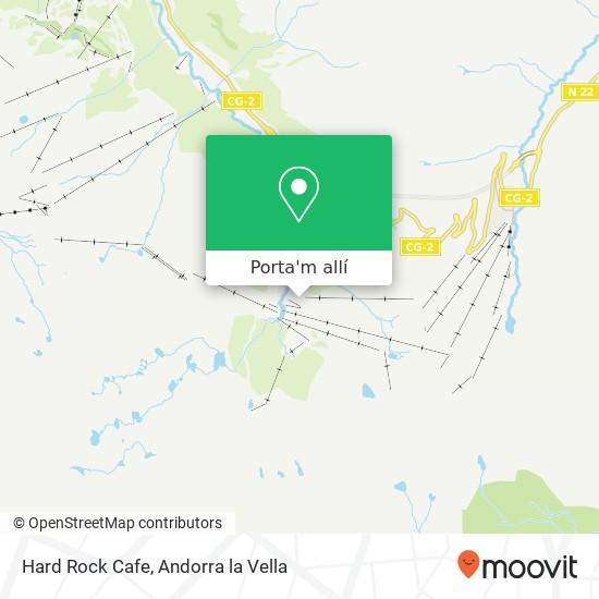 mapa Hard Rock Cafe
