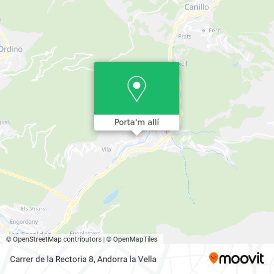 mapa Carrer de la Rectoria 8