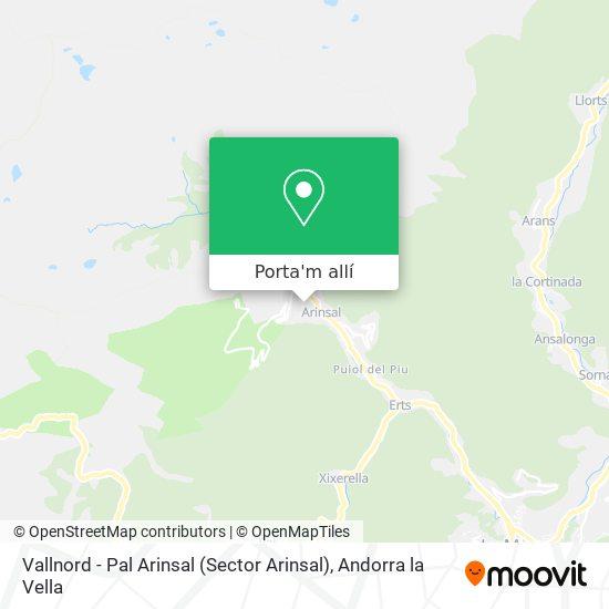 mapa Vallnord - Pal Arinsal (Sector Arinsal)