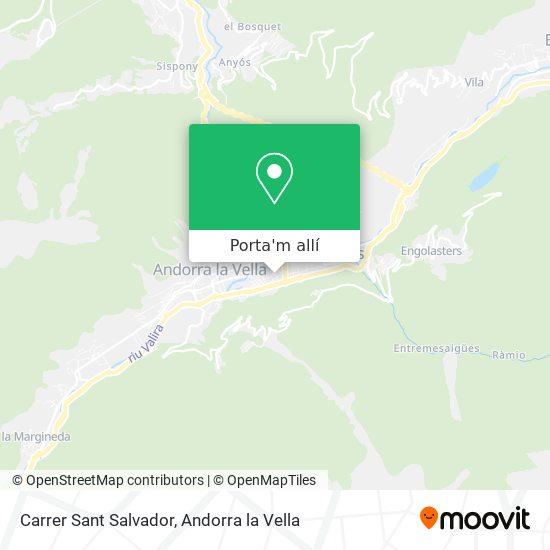mapa Carrer Sant Salvador