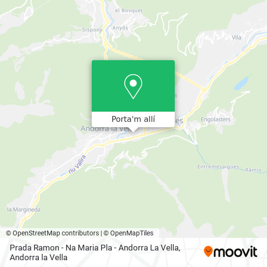 mapa Prada Ramon - Na Maria Pla - Andorra La Vella