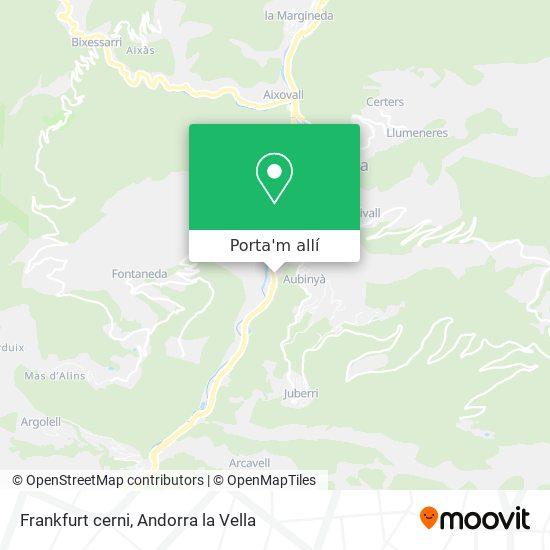 mapa Frankfurt cerni