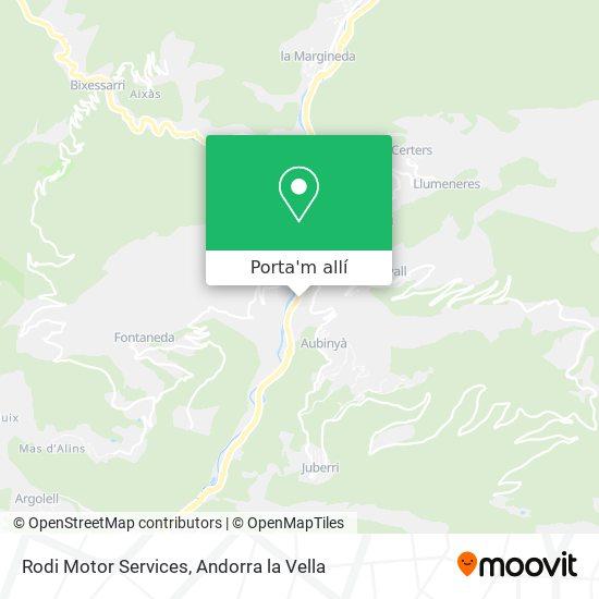 mapa Rodi Motor Services