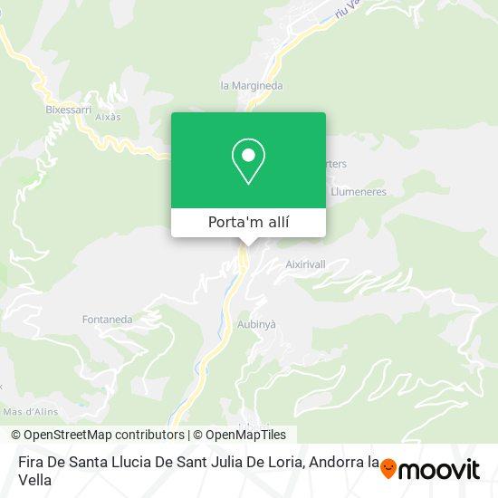 mapa Fira De Santa Llucia De Sant Julia De Loria