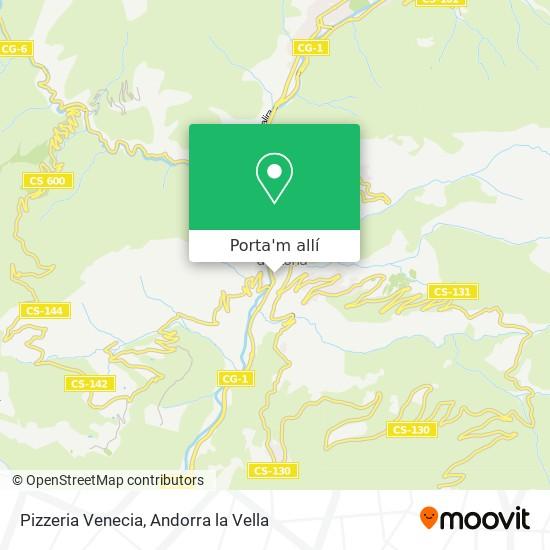 mapa Pizzeria Venecia