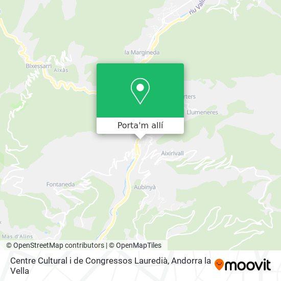 mapa Centre Cultural i de Congressos Lauredià