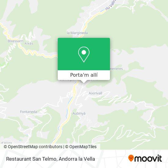mapa Restaurant San Telmo