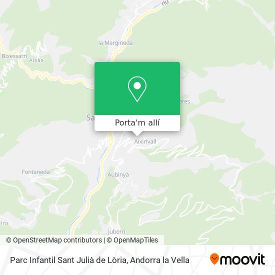 mapa Parc Infantil Sant Julià de Lòria