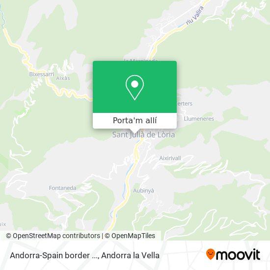mapa Andorra-Spain border ...