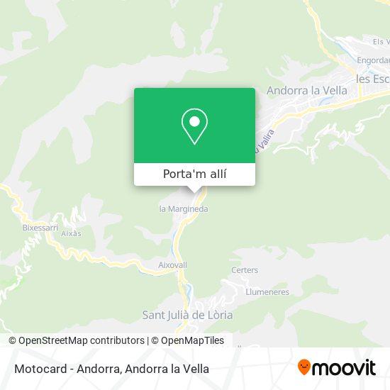 mapa Motocard - Andorra