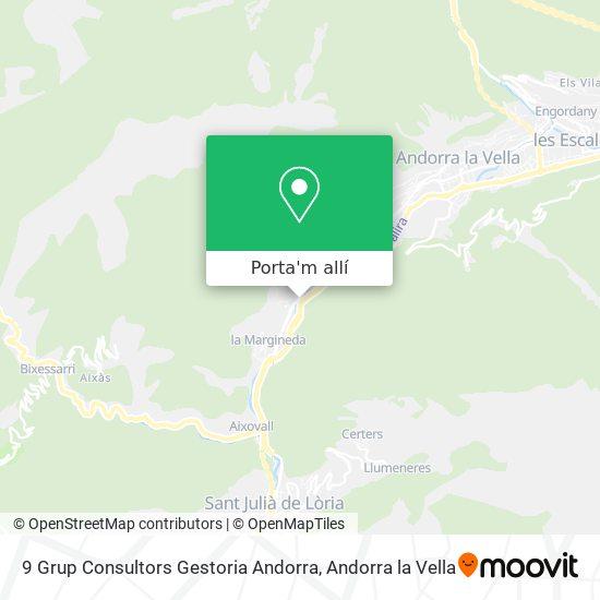 mapa 9 Grup Consultors Gestoria Andorra