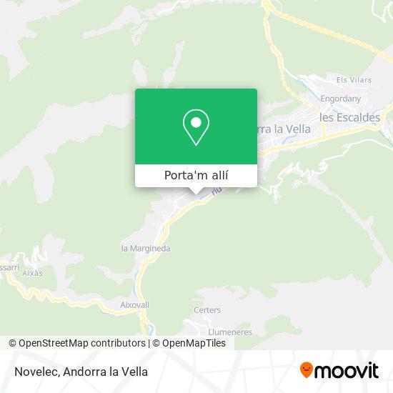 mapa Novelec