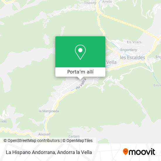 mapa La Hispano Andorrana