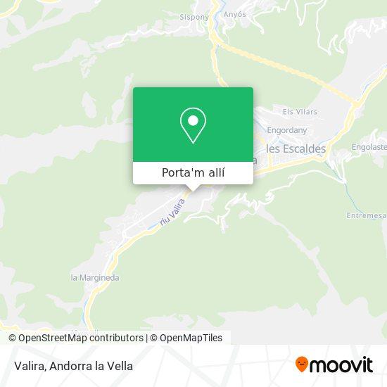 mapa Valira