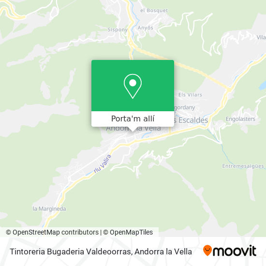 mapa Tintoreria Bugaderia Valdeoorras
