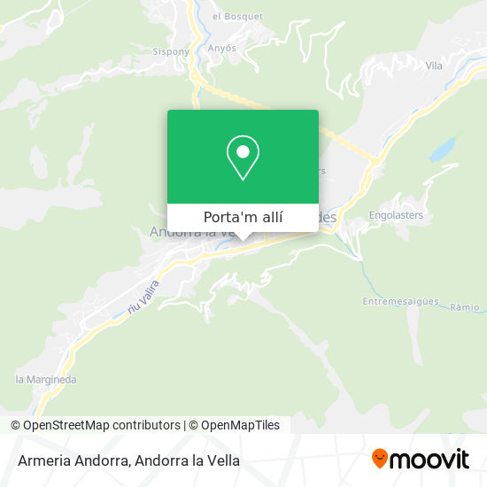 mapa Armeria Andorra