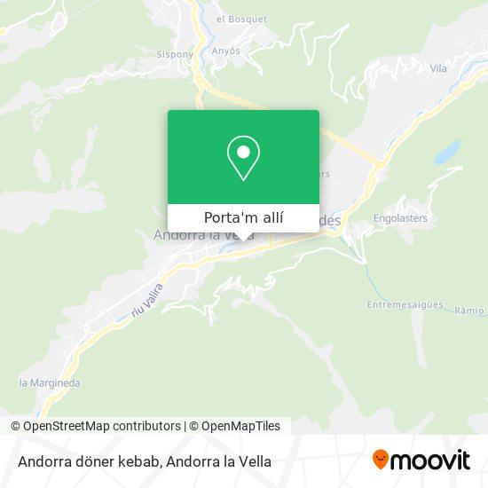 mapa Andorra döner kebab