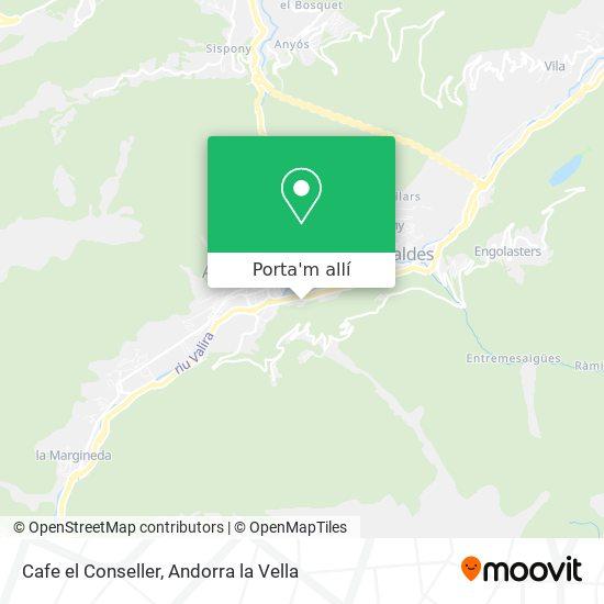 mapa Cafe el Conseller