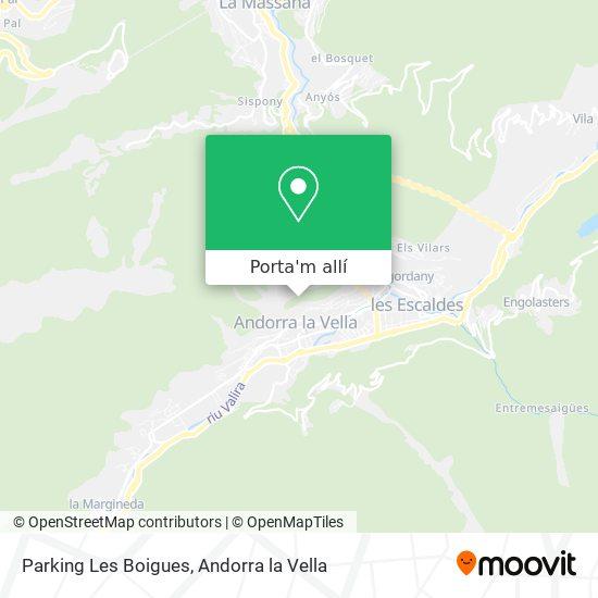 mapa Parking Les Boigues