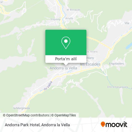 mapa Andorra Park Hotel