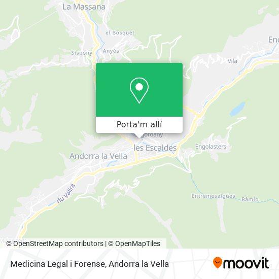 mapa Medicina Legal i Forense
