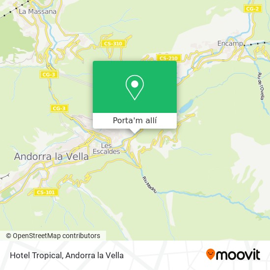 mapa Hotel Tropical