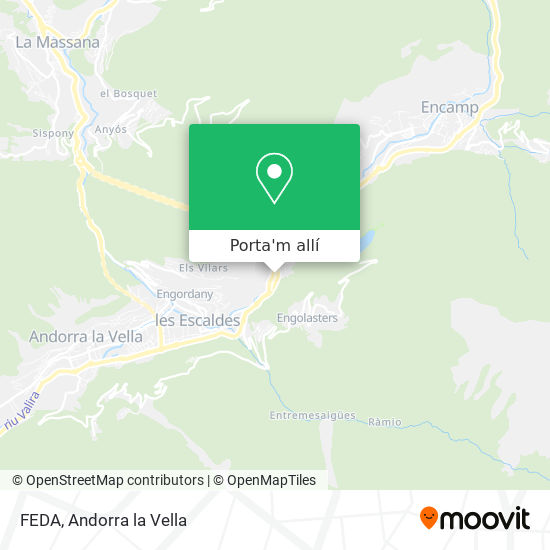 mapa FEDA