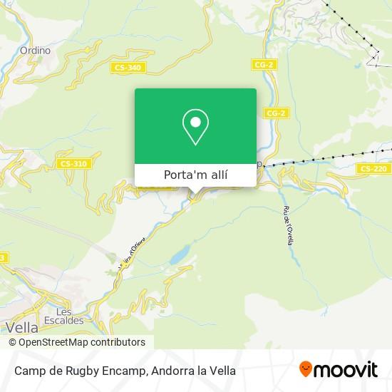 mapa Camp de Rugby Encamp