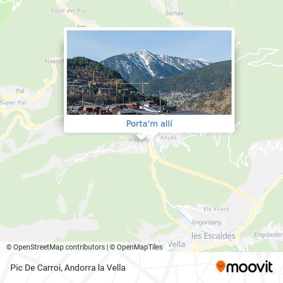 mapa Pic De Carroi