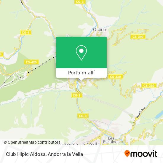 mapa Club Hipic Aldosa