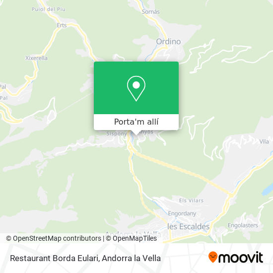 mapa Restaurant Borda Eulari