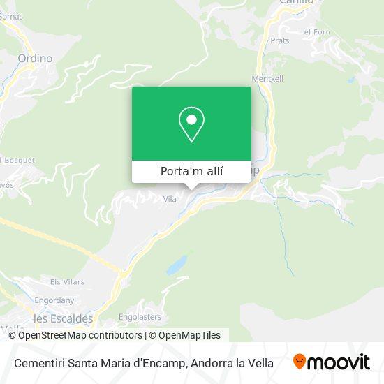 mapa Cementiri Santa Maria d'Encamp