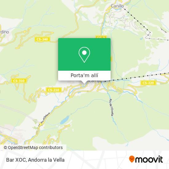 mapa Bar XOC