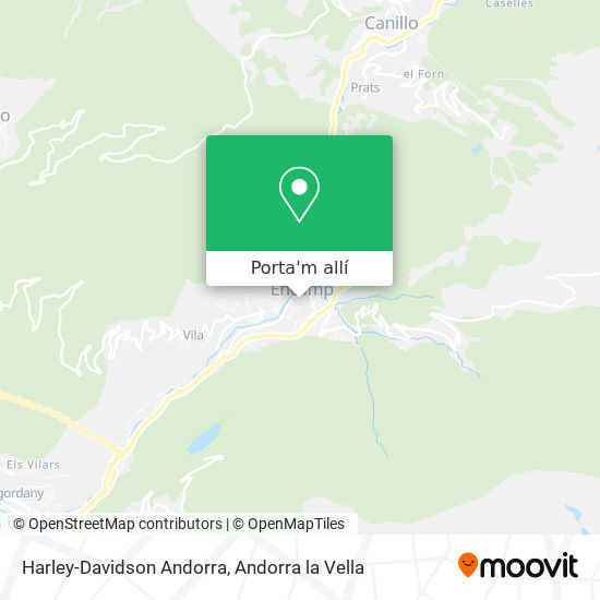 mapa Harley-Davidson Andorra