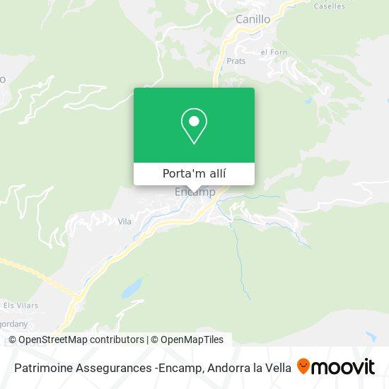 mapa Patrimoine Assegurances -Encamp