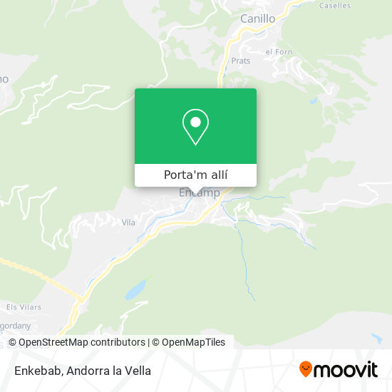 mapa Enkebab