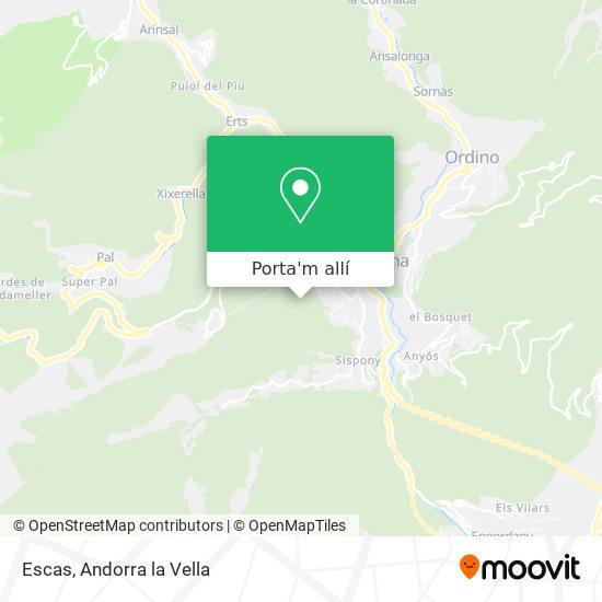 mapa Escas