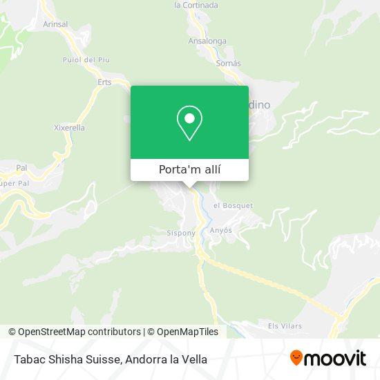 mapa Tabac Shisha Suisse